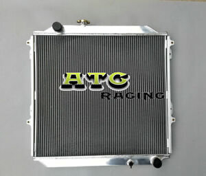 Aluminum Radiator for Toyota Hilux Surf KZN185 3.0L Diesel Manual MT 1996-2002