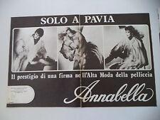 advertising Pubblicità 1981 PELLICCE PELLICCERIA ANNABELLA - PAVIA