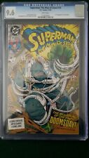 Superman: The Man of Steel #18 CGC 9.6 1st Full Doomsday!