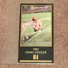 1982 Craig Stadler Golf Card: The Masters Collection (Trading Cards, Sports)