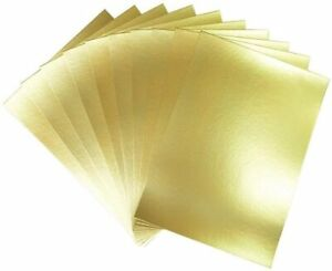 Pack of 10 Sheets A4 Gold Mirror Card