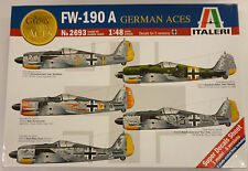 Italeri 1/48 WWII F-190A German Aces Model Kit 2693