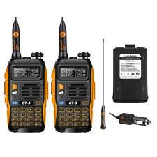 UPS 2×Baofeng/Pofung *GT-3 Mark II* + BATTERIA Ricetrasmittente FM Walkie Talkie