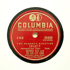 """BEATRICE KAY & THE ELM CITY FOUR """"Smarty / I Don't Care"""" COLUMBIA 35459 [78 RPM]"""