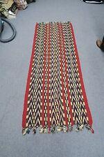 "Vintage Hand spun woven Runner Warp Throw Textile Panel Ikat Tapestry 28"" x 70"""