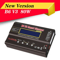 80W 6A Lipo Battery Balance Charger Discharger Upgrade Version & Charging Cable