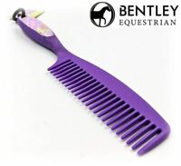 Purple Equestrian Comb Mane & Tail Hair Horse Grooming Cleaning Brush Soft Grip