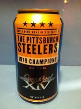 NFL 1979 PITTSBURGH STEELERS SUPER BOWL BUD LIGHT 2015 BEER CAN