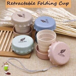 Portable Collapsible Travel Reusable Cup Folding Camping Lid Retractable 200 ml