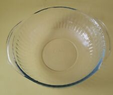 Pyrex Clear Glass #024-S 2 Quart Ribbed Design Casserole Dish Without Lid