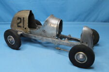 Very Rare! Vintage 1939-40 Dooling Mercury Deluxe Rail Racer Tether Car