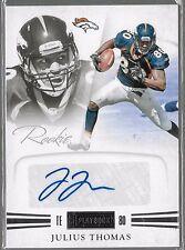 2012 Panini Playbook Julius Thomas Auto Rc Serial # /299 Denver Broncos Picture