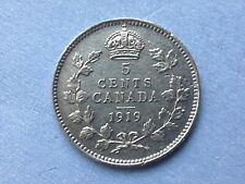 Canada 5 cents 1919 George V silver