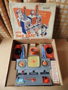 DAN DARE MERIT VINTAGE 1950s BOXED SPACE CONTROL RADIO STATION SET