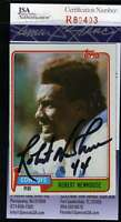ROBERT NEWHOUSE  JSA COA Autographed 1981 TOPPS Authentic Signed Cowboys
