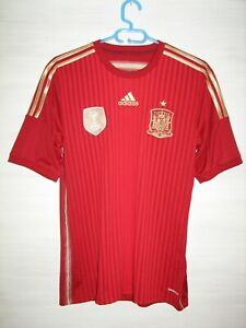 SPAIN 2013-15 HOME SHIRT ADIDAS JERSEY SOCCER SIZE S
