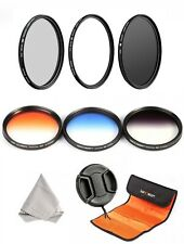 K&F Concept 58mm 6 Filter UV ND4 CPL and 3 Graduated Kit for Canon Nikon Sony