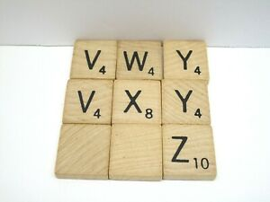 Scrabble Board Game Replacement V, W, X, Y, Z, Blank Letter Tiles 9x Total