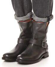 Frye 'Natalie Engineer' Short Black Leather Boots SZ 6B