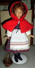 Little Red Riding Hood 14 Inch Porcelain Doll by Dianna Effner w/basket NICE R5