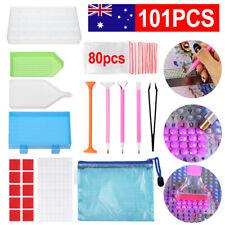 101PCS 5D Diamond Painting Tools Box Cross Accessories Kit Art Craft Pen Set DIY