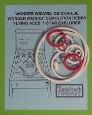 1977 Sentinel Flying Aces / Star Explorer pinball rubber ring kit