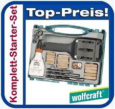 WOLFCRAFT 4645000 Universal Holzdübel Box Meisterdübler Holzdübel Holzbohrer