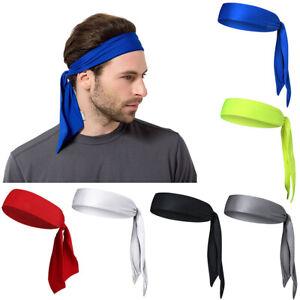 Elastic Solid Running Basketball Head Tie Sports Tennis Headband Head Scarf