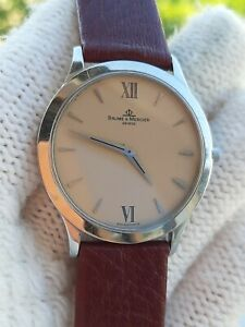 BAUME & MERCIER WATCH MW045193 CLASSIMA QUARTZ MENS 35mm SWISS MADE