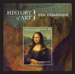 Grenadines- 2013 History of Art Stamp- S/S