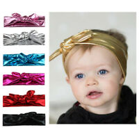 Kids Baby Girls Rabbit Bow Ear Hairband Headband Turban Knot Head Wraps