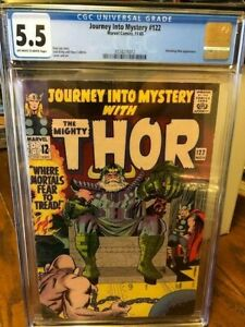 Journey Into Mystery #122  CGC 5.5  Marvel 1965 Thor, Absorbing Man, KIRBY!!!!