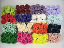 6 roses  x 6 cm Colourfast Artificial Foam Rose Wedding Craft Flowers WEDDING