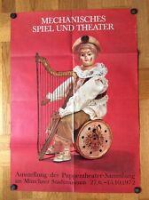 Mechanisches Spiel und Theater - Stadmuseum (Münchner Puppentheater-Plakat '72)