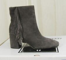 NEW FRYE Womens Jodi Fringe Soft Kid Suede Ankle Bootie Boot Size 8 M Smoke Grey