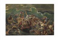 """AK, Künstlerkarte von Rob. Leinweber, """"Die heilige Schrift"""",  Ägypter Untergang"""