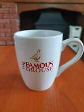 THE FAMOUS GROUSE WHISKY WHITE WITH RED & GOLD LOGO CERAMIC MUG - OFFICAL MERCH