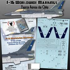F-16 Worldwide Markings: Fuerza Aerea de Chile (1/48 decals, Eagle Strike 48263)
