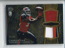 CHARLES SIMS 2014 BOWMAN STERLING GOLD REFRACTOR DUAL RC PATCH #22/99 AB6470
