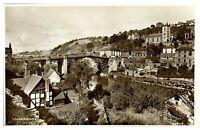 Antique RPPC real photograph postcard Ironbridge river landscape view