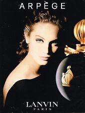 PUBLICITE ADVERTISING 114  1994  ARPEGE  parfum femme de LANVIN