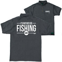 FB Fishing Top Rather Be Fishing Novelty Birthday Christmas Gift Polo T-Shirt