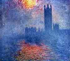 The Parlaiment In London Monet A2 Box Canvas Large
