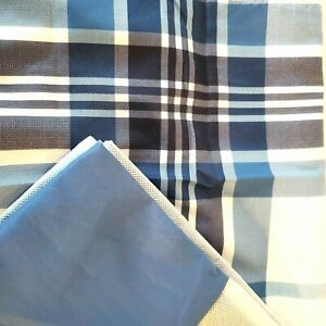 Mainstays Twin Blue Bedskirt and Plaid sham New in Package