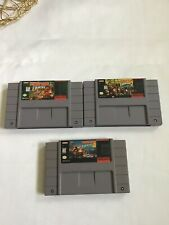 Donkey Kong Country 1 2 3 Trilogy Super Nintendo SNES Game Cart Used Working