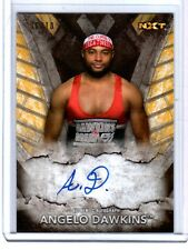WWE Angelo Dawkins 2016 Topps NXT Gold Authentic Autograph Card SN 6 of 10