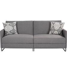 Modern Futon Sofa Bed Convertible Recliner Couch Splitback Sleeper Dorm Gray