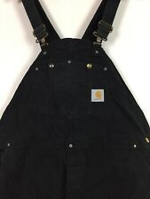 """Mens Carhartt Dungarees / W46""""L29""""/ Black / Worker / Button Fly / Classic"""