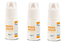 3 x THE EDGE NAIL GLUE 3g gram tips super strong false adhesive