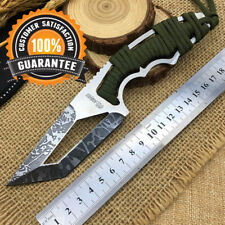 ✅ Faca Outdoor Fixed Knife TANTO Stainless Steel Blade Etching Pattern Surface🔥